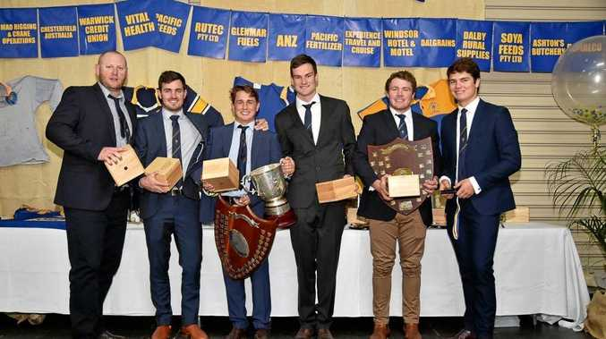 WINNERS ARE GRINNERS: A-grade award winners Broc Turner, Daniel Merker, John Moloney, Paul Maguire, Sam Hogarth and Hugh Fordyce.