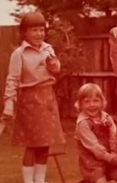 Michelle Lawrence (left) with her little sister Vicky.