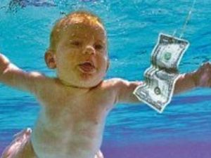 'Baby' recreates famous Nirvana cover shot 25 years later
