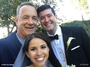 Jogging Tom Hanks crashes wedding in Central Park