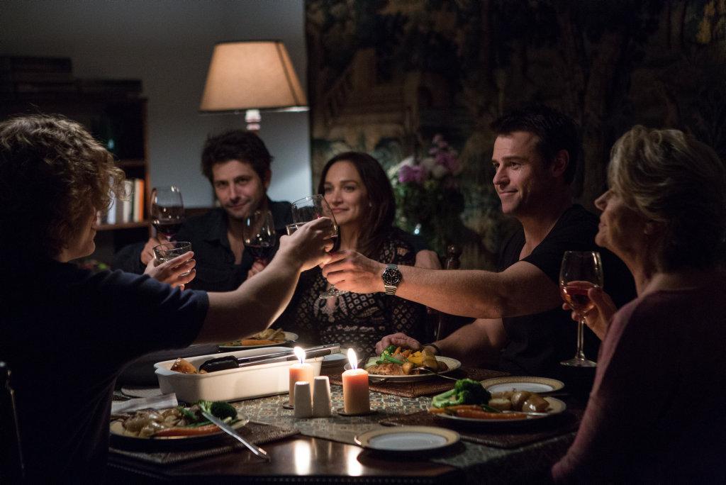 Ryan Johnson, Nicole Da Silva and Rodger Corser in a scene from Doctor Doctor.