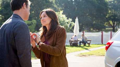 Rodger Corser and Nicole Da Silva in a scene from the TV series Doctor Doctor.