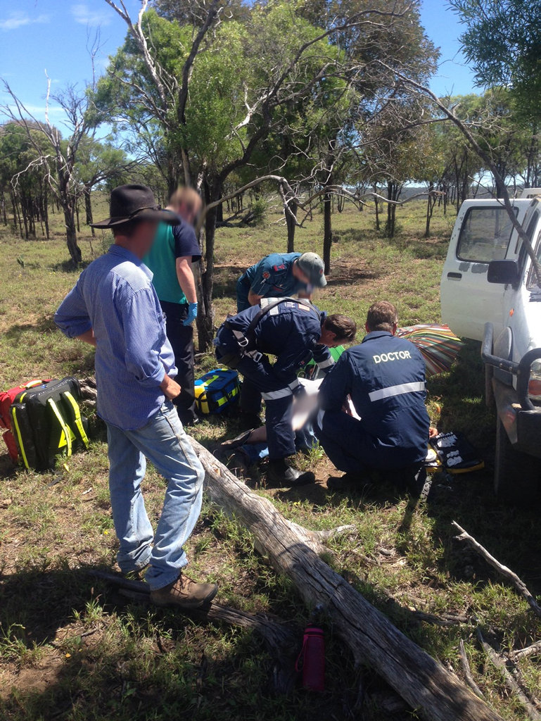 LifeFlight's Roma-based Surat Gas Aero-Medical Service has flown to a remote rural property north east of Roma after a man was trampled by a horse.
