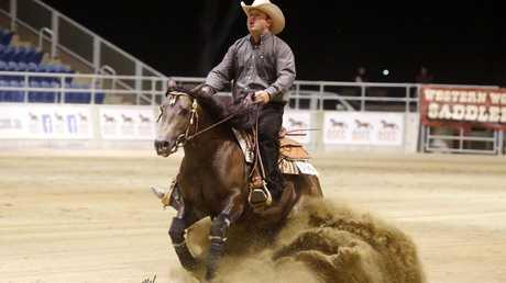 Horse owner Ben Ryan and Pekarra Dazzling Deputy. Melissa Cruden Crazy Horse Designs