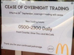 This McDonald's will close to midnight snackers