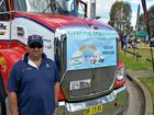 Andrew Bell of Lindsay Transport led the way in his Kenworth T409.