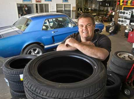 GRATEFUL CUSTOM: Liebke Tyres owner Chris Liebke and his staff are adored by residents for their outstanding customer service.