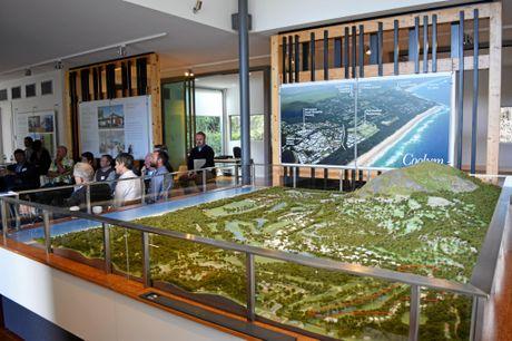 THINKTANK: Key representatives met at Yaroomba to discuss the Sekisui House development site.