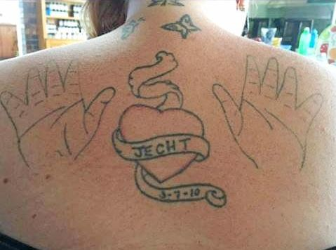 Tattoo artist Jeffrey Robinson has been overwhelmed by the number of bad tattoos sent to him.