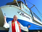 Maroochy the cruise boat has been renamed, launched and blessed by Father Joe Duffy.  Photo: John McCutcheon / Sunshine Coast Daily