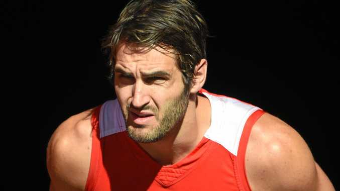 Sydney Swans player Josh Kennedy takes to the field during a training session at the SCG.