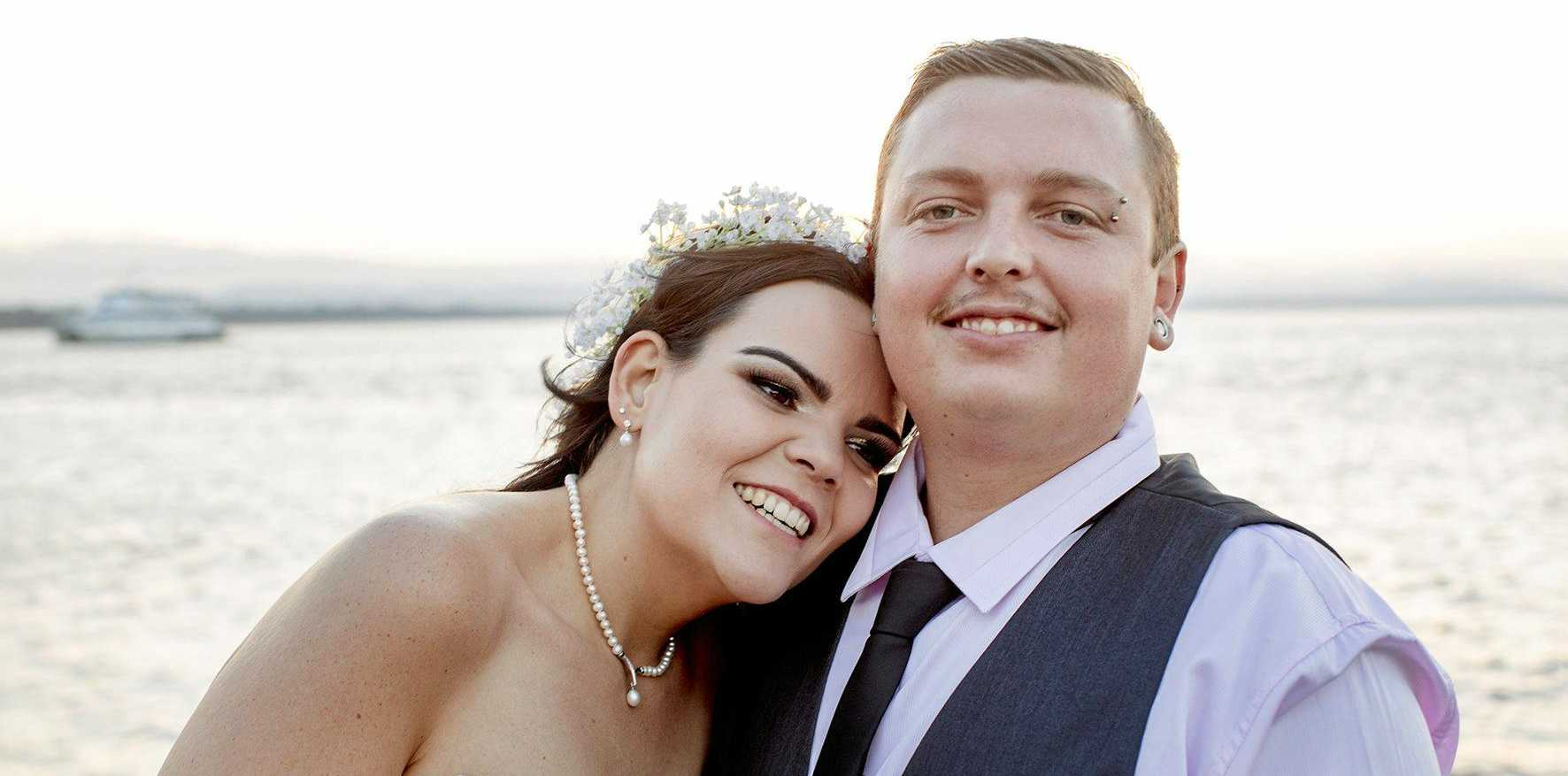 Bridie Immoos and Michael Ritchie wed at Agnes Water on September 24.