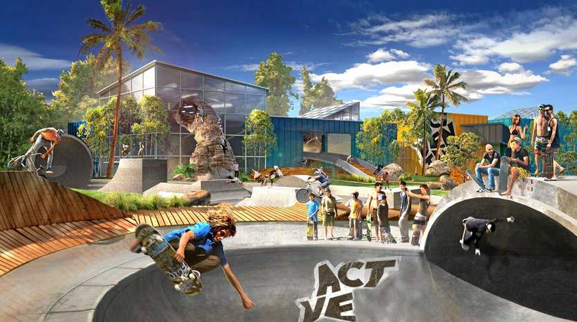 VISION: Some of the future visions for the $400 million Sunshine Coast water park and active sporting facility.