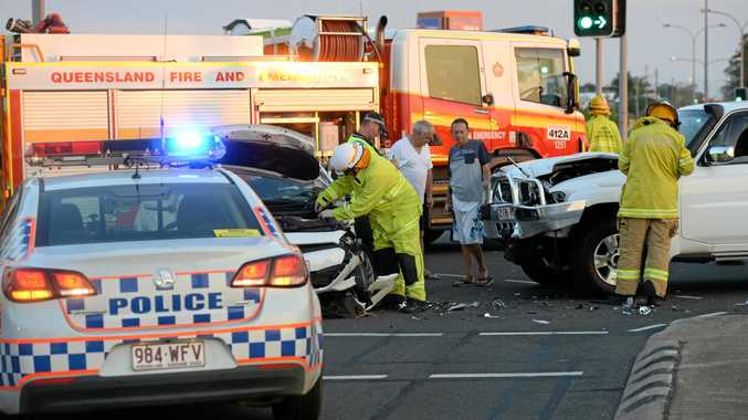 Two cars crashed at the intersection of Maryborough and Electra Streets.
