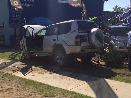 The crash on Bargara Rd.