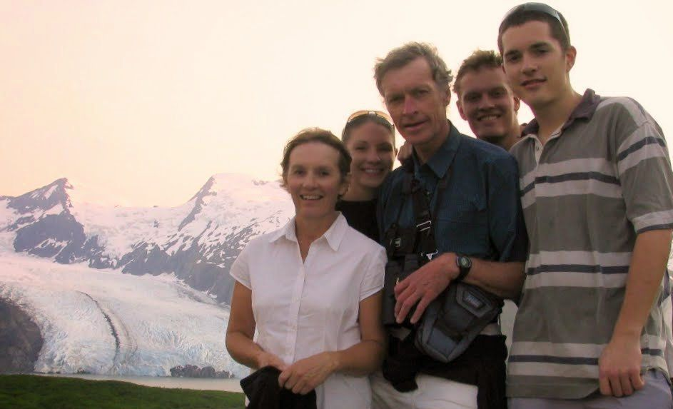 Enjoying a trip to Alaska in 2004 are (from left) Jill, Amanda, Roger, Paul and David Guard