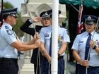 Police Remembrance Day march to Brown's Park in North Ipswich on Thursday.