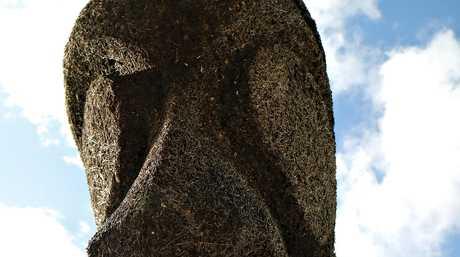 A statue at Pango, near Port Vila, Vanuatu.