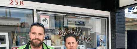 Closed until further notice - Pleading for some empathy from the Fraser Coast Council, Raylene and Mick  Draper from Coffie Fixx in Adelaide Street, Maryborough, wait for answers on the discovery of asbestos outside their shop.