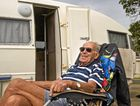 TRAVELLING TIME: Max Harber, 85, always makes a stop in Toowoomba on his yearly caravan trips.