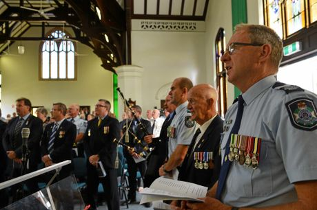 REMEMBRANCE DAY: Bundaberg's Uniting Church was filled for yesterday's service to remember fallen officers.