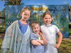 Palmers Island Public School students Ruby Martini, Ashleigh Sanna and Daeja Parker.