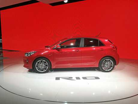 The 2017 Kia Rio goes on show at the Paris Motor Show.