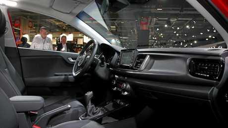 Inside the new 2017 Kia Rio.