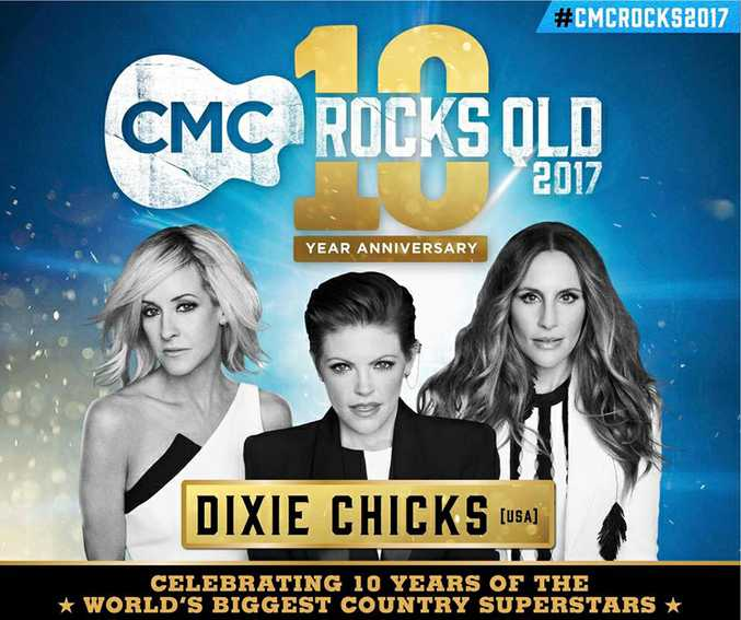 The 10th annual CMC Rocks festival will be headlined by The Dixie Chicks.
