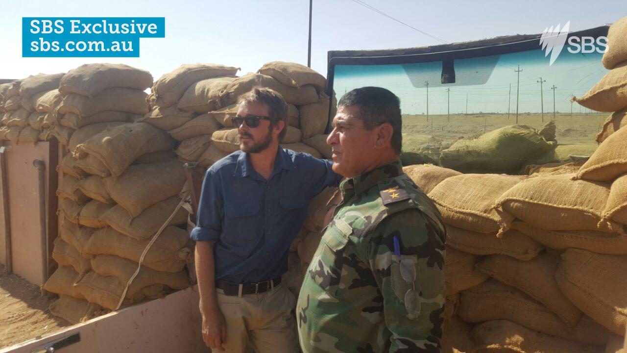 Former Longman MP Wyatt Roy with a Peshmerga soldier in Iraq.