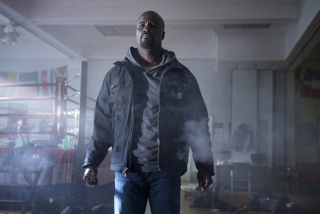 Mike Colter in a scene from the TV series Marvel's Luke Cage. Supplied by Netflix.