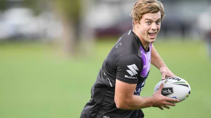 Christian Welch Melbourne Storm training at Gosch's Paddock, Rugby League. Picture: Jason Edwards
