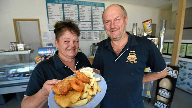 Bondies At The Bay, in Ballina, owners Gary and Kelly Bond were voted as having the best fish and chips in the region.