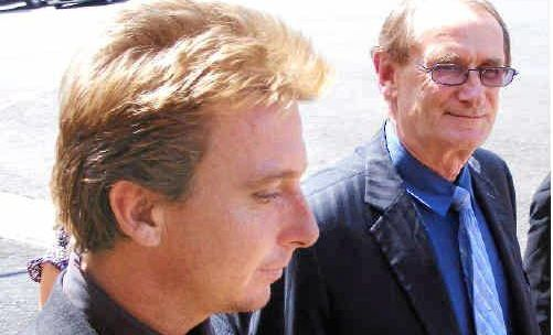SAD HISTORY: Matthew Bell (left) outside the Lismore Court House in 2010.