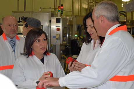 SWEET IDEA: Minister for Innovation Leeanne Enoch with Premier Annastacia Palaszczuk at Capilano Honey in Richlands.