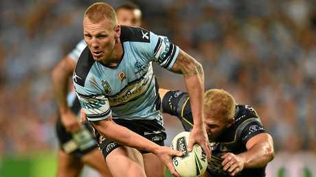 KEY FORWARD: Sharks player Luke Lewis looms as a danger man for the NRL grand final.