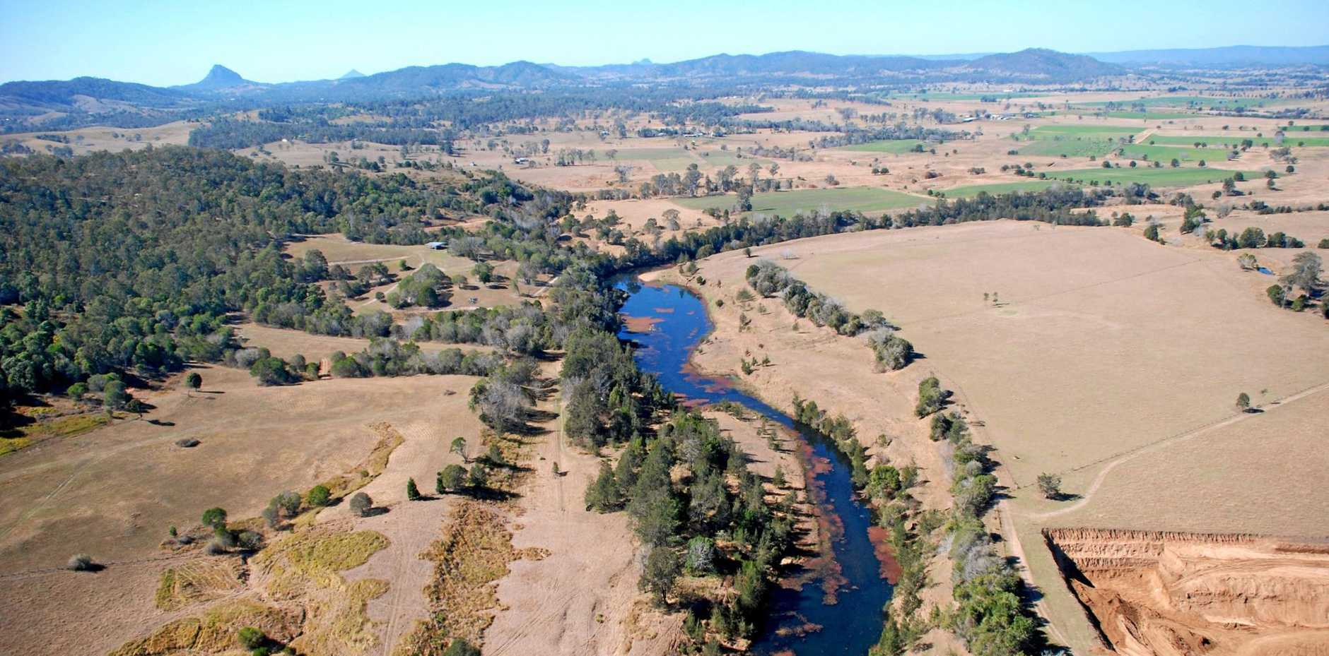 DISASTROUS: The site of the proposed dam wall for the failed Traveston Crossing dam.
