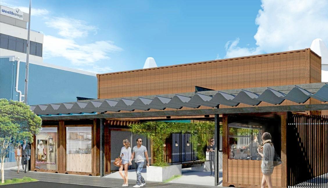 EAT STREET: A vision of Ocean St's future 'Eat Street' market.