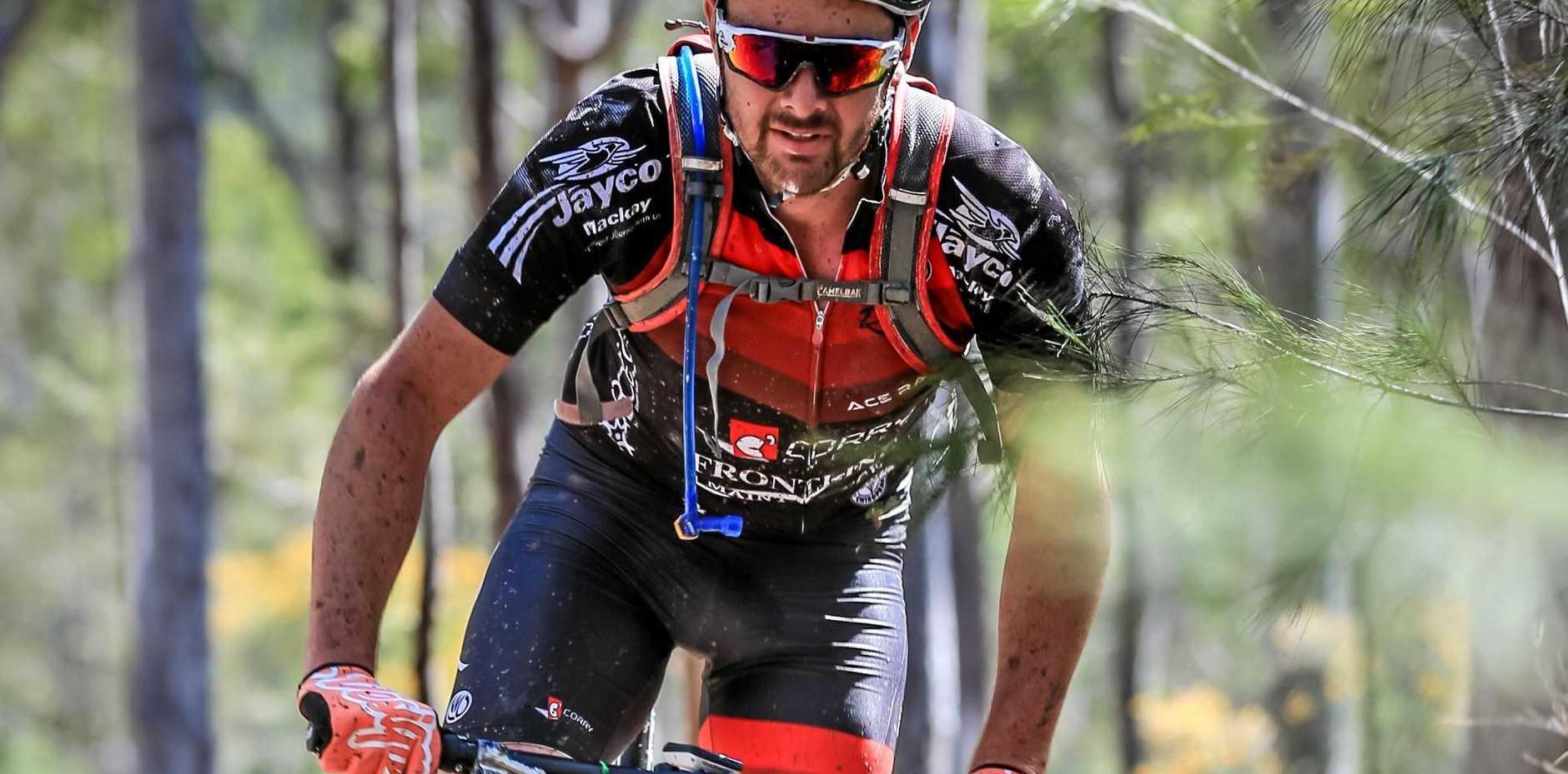 BACK UP: Mackay's Troy Garth won the national XCO marathon championship Cycle Epic round.