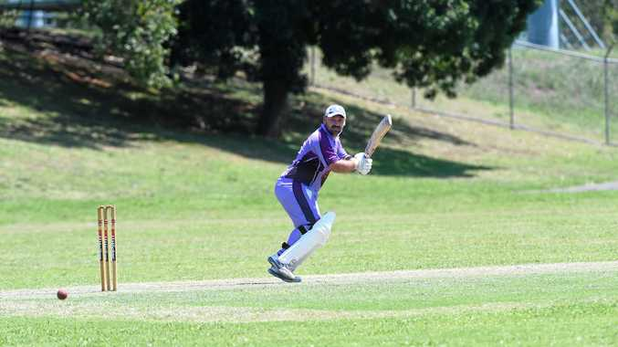 ON HIS TOES: Pottsville batsman Jayden Hoare during the inaugural Rous Hotel 16.8 cricket tournament last year.