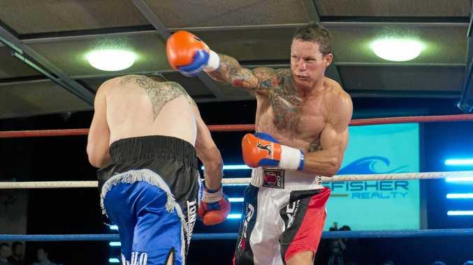 Jamie Hilt (right) in action against Matt Burgoyne at Rumours International in May.