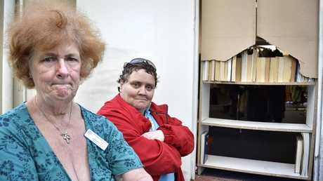 Upset Vinnies Newtown volunteers Sandra Gibson (left) and Therese Morris talk about the low lives who broke into the charity shop and stole money, clothing and jewellery. October 1, 2016