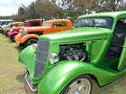 LINED UP: There were plenty of vehicles at the Auto-Amazing Car show at Jayteens Park Bargara.