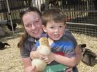 Nicole McDonald with her son Jack McDonald at the Australian Camp Oven Festival in Millmerran.
