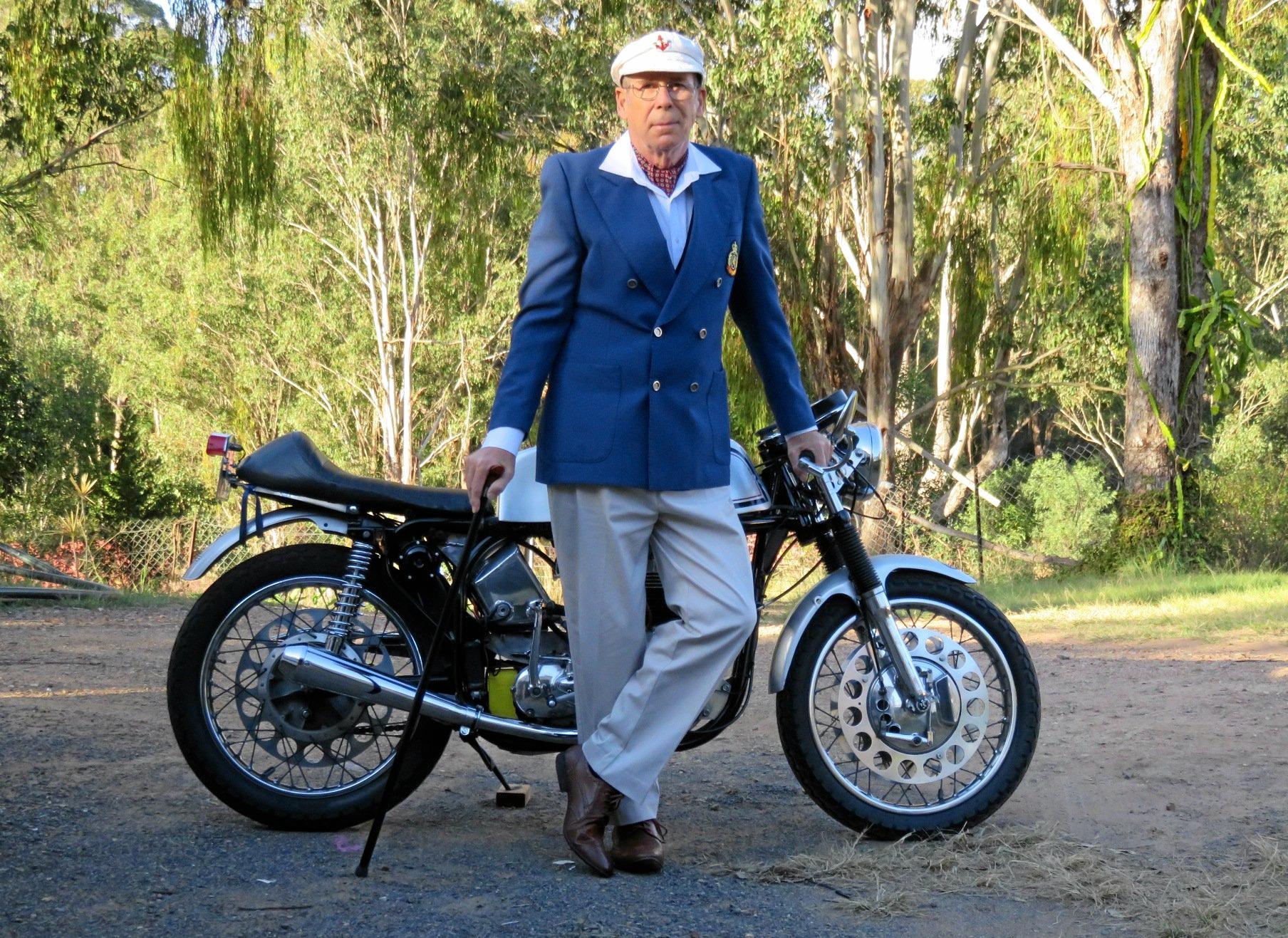 BACK ON THE BIKE: Despite a nasty accident, Graham got back on the bike for charity.