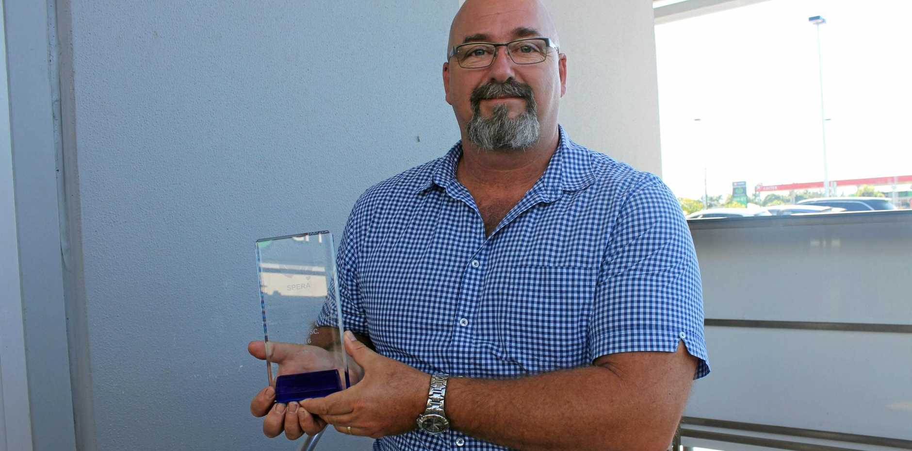 Calen District State College German teacher David Keeble has taken out a national award for rural education.