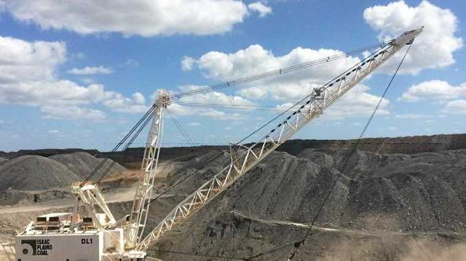 Stanmore Coal have a new dragline operation at their Isaac Plains coal mine, which processed its first coal on Wednesday. Photo: Contributed.