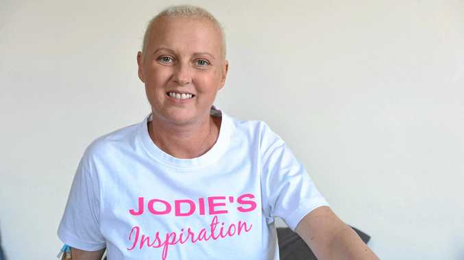 Jodie McRae of Lismore, founded Jodie's Inspiration after battling a rare form of breast cancer. Photo Marc Stapelberg / The Northern Star