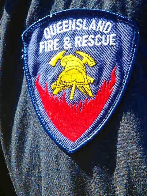 Firefighters are watching a blaze at Borumba Dam.