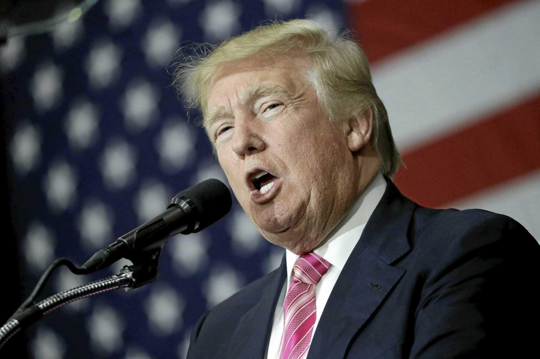 NASTY: Donald Trump.